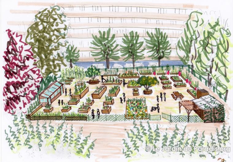 Le jardin du paradis for Plan de jardin